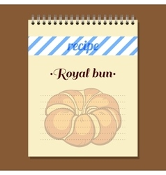 Recipe Book Royal Bun vector