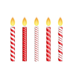 Red Birthday Candles vector