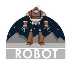 robot technology automated intelligence futuristic vector image
