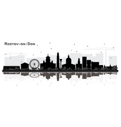 Rostov-on-don russia city skyline silhouette with vector