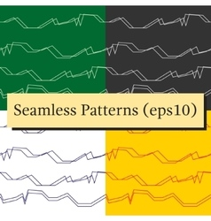 Seamless abstract horizontal lines patterns vector image