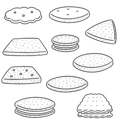 set of cookies and biscuits vector image
