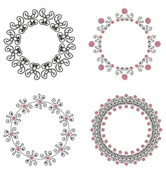 Set of four ornate vintage frames vector
