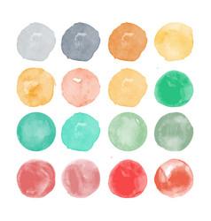 set of watercolor shapes watercolors blobs vector image