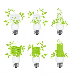 set power saving lamps vector image