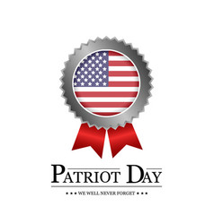 sign patriot day on white background vector image