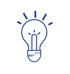 Silhouette light bulb idea to intelligent and vector
