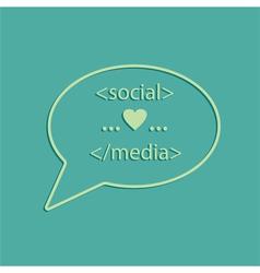 social media tags vector image