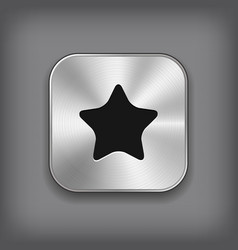 Star icon - metal app button vector