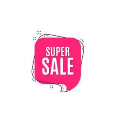 super sale special offer price sign vector image