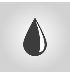 The drop icon Water and Oil symbol Flat vector image