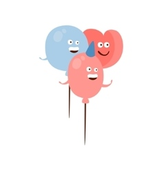 Three Different Shape Balloons Children Birthday vector