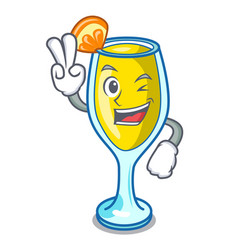 Two finger mimosa character cartoon style vector