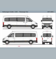 Volkswagen crafter passenger van l3h2 2017-2018 vector