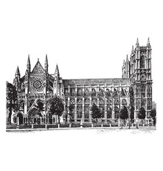 westminster abbey vintage vector image