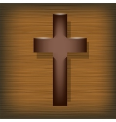 Wood Cross Symbol of Religion vector