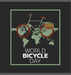 World bicycle day vector