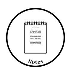 Binder notebook icon vector image