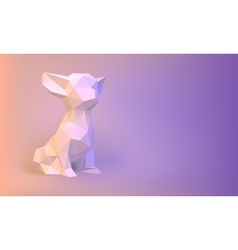 Low-poly dog vector image