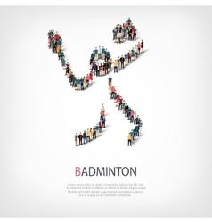 people sports badminton vector image vector image