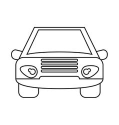 car vehicle transport front view outline vector image vector image
