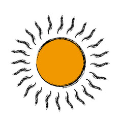 cartoon sun weather day climate icon vector image