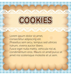 cute rectangle cookies with lace on blue vector image vector image