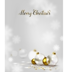 elegant Christmas background with gold and white vector image vector image