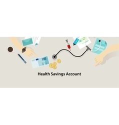 HSA Health Savings Account vector image vector image