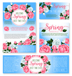 templates set for spring time greetings vector image vector image