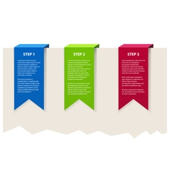Three color banners with sample text vector image