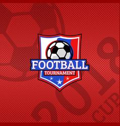 2018 football cup logo football ball on the flag vector image vector image