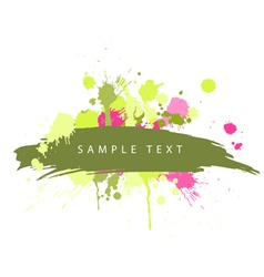 abstract grunge spots vector image