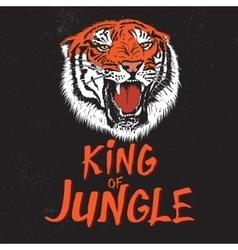 Color label with tiger head vector image vector image