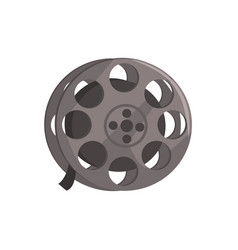 film reel video tape sign vector image