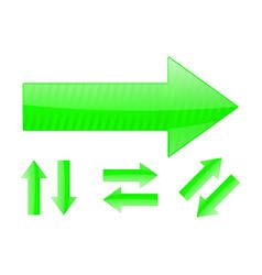 set of green arrows vector image vector image