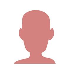 silhouette human head man healthy vector image