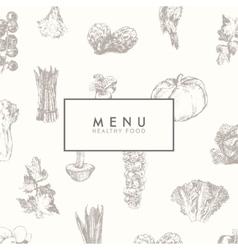 Trendy restaurant menu design hand drawn vector image vector image