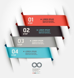 Abstract ribbon options banner vector image vector image