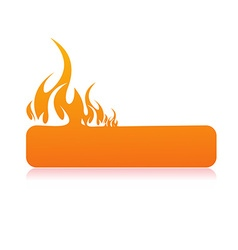 Burning flame banner vector image