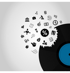 Business Vinyl vector image vector image