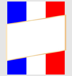 frame on the background of the flag france vector image vector image