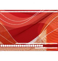 geometric wave background wave vector image vector image