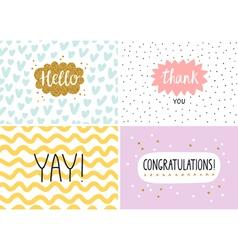 Happy cards set vector image vector image