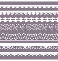 set of laces vector image