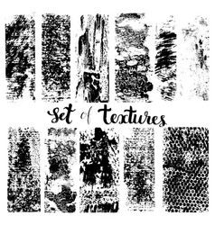 set of texture vector image vector image