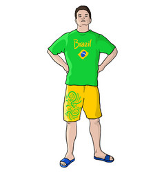 soccer brazil vector image