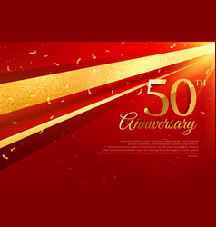 50th anniversary celebration card template vector image vector image