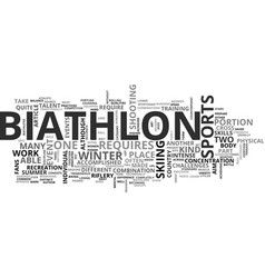 A biathlon primer text word cloud concept vector
