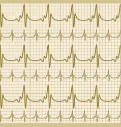 Background with cardiogram vector